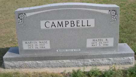 CAMPBELL, MARVIN WADE - Dawes County, Nebraska | MARVIN WADE CAMPBELL - Nebraska Gravestone Photos