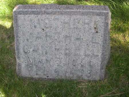 CAMPBELL, MARTHA E. - Dawes County, Nebraska | MARTHA E. CAMPBELL - Nebraska Gravestone Photos