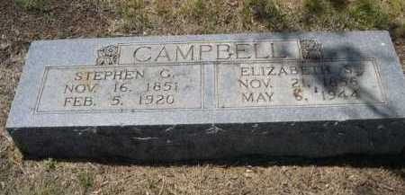 CAMPBELL, STEPHEN G. - Dawes County, Nebraska | STEPHEN G. CAMPBELL - Nebraska Gravestone Photos