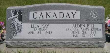 CANADAY, ALDEN BILL - Dawes County, Nebraska | ALDEN BILL CANADAY - Nebraska Gravestone Photos