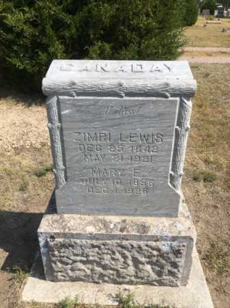 CANADAY, ZIMRI LEWIS - Dawes County, Nebraska   ZIMRI LEWIS CANADAY - Nebraska Gravestone Photos