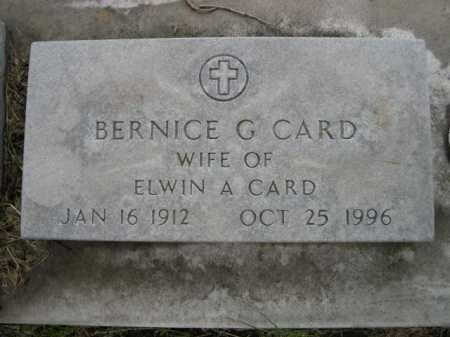 CARD, BERNICE G. - Dawes County, Nebraska | BERNICE G. CARD - Nebraska Gravestone Photos