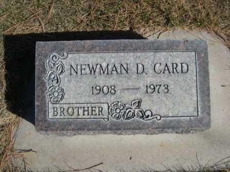 CARD, NEWMAN D. - Dawes County, Nebraska | NEWMAN D. CARD - Nebraska Gravestone Photos