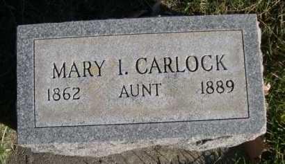 CARLOCK, MARY I. - Dawes County, Nebraska   MARY I. CARLOCK - Nebraska Gravestone Photos