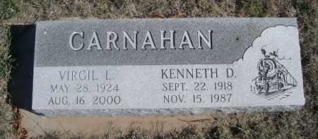 CARNAHAN, KENNETH D. - Dawes County, Nebraska | KENNETH D. CARNAHAN - Nebraska Gravestone Photos