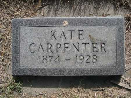 CARPENTER, KATE - Dawes County, Nebraska | KATE CARPENTER - Nebraska Gravestone Photos