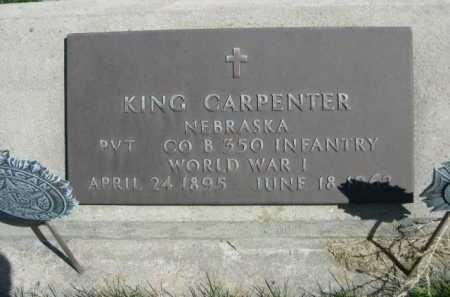 CARPENTER, KING - Dawes County, Nebraska | KING CARPENTER - Nebraska Gravestone Photos