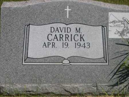 CARRICK, DAVID M. - Dawes County, Nebraska | DAVID M. CARRICK - Nebraska Gravestone Photos