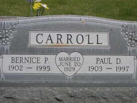 CARROLL, PAUL D. - Dawes County, Nebraska   PAUL D. CARROLL - Nebraska Gravestone Photos