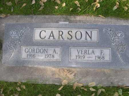 CARSON, GORDON A. - Dawes County, Nebraska   GORDON A. CARSON - Nebraska Gravestone Photos