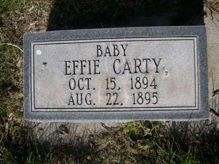 CARTY, EFFIE - Dawes County, Nebraska | EFFIE CARTY - Nebraska Gravestone Photos