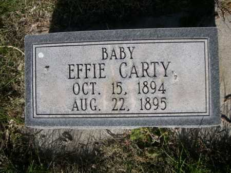 CARTY, EFFIE - Dawes County, Nebraska | EFFIE CARTY - Nebraska Gravestone Photos