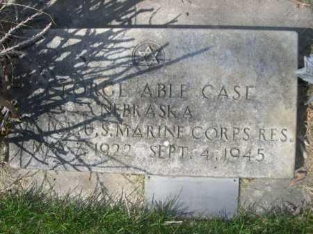 CASE, GEORGE ABLE - Dawes County, Nebraska   GEORGE ABLE CASE - Nebraska Gravestone Photos