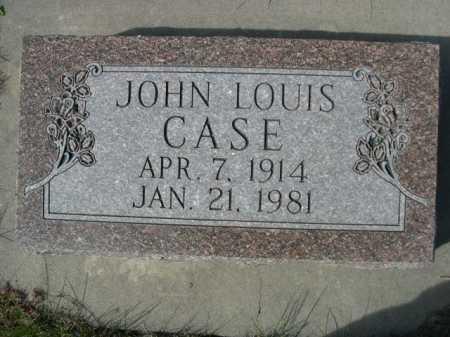 CASE, JOHN LOUIS - Dawes County, Nebraska | JOHN LOUIS CASE - Nebraska Gravestone Photos