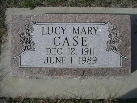 CASE, LUCY MARY - Dawes County, Nebraska | LUCY MARY CASE - Nebraska Gravestone Photos