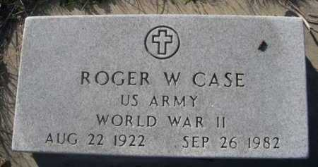 CASE, ROGER W. - Dawes County, Nebraska   ROGER W. CASE - Nebraska Gravestone Photos