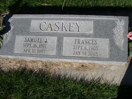 CASKEY, FRANCES - Dawes County, Nebraska | FRANCES CASKEY - Nebraska Gravestone Photos
