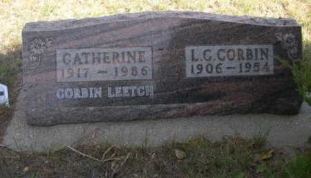 CORBIN LEETCH, LEETCH CATHRINE - Dawes County, Nebraska | LEETCH CATHRINE CORBIN LEETCH - Nebraska Gravestone Photos