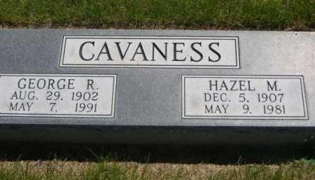 CAVANESS, GEORGE R. - Dawes County, Nebraska | GEORGE R. CAVANESS - Nebraska Gravestone Photos