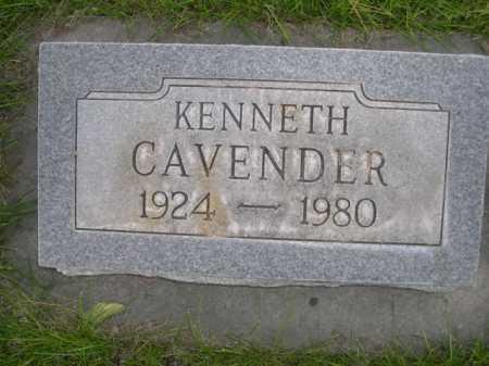 CAVENDER, KENNETH - Dawes County, Nebraska   KENNETH CAVENDER - Nebraska Gravestone Photos