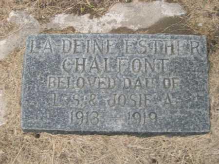 CHALFONT, LA DEINE ESTHER - Dawes County, Nebraska | LA DEINE ESTHER CHALFONT - Nebraska Gravestone Photos