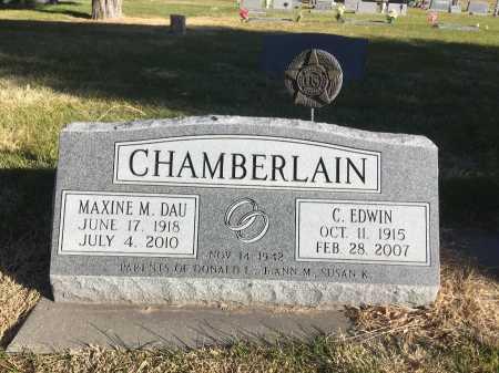 CHAMBERLAIN, C. EDWIN - Dawes County, Nebraska | C. EDWIN CHAMBERLAIN - Nebraska Gravestone Photos