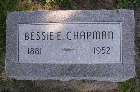 CHAPMAN, BESSIE E. - Dawes County, Nebraska | BESSIE E. CHAPMAN - Nebraska Gravestone Photos