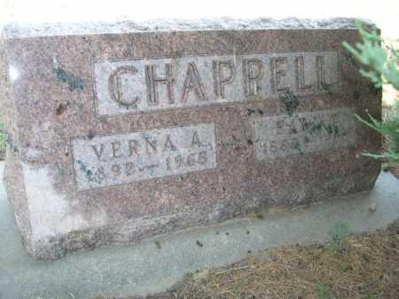 CHAPPELL, EARL T. - Dawes County, Nebraska | EARL T. CHAPPELL - Nebraska Gravestone Photos
