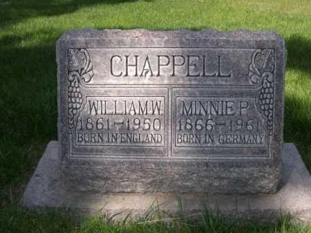 CHAPPELL, MINNIE P. - Dawes County, Nebraska | MINNIE P. CHAPPELL - Nebraska Gravestone Photos