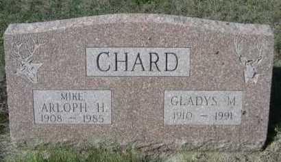 CHARD, GLADYS M. - Dawes County, Nebraska | GLADYS M. CHARD - Nebraska Gravestone Photos