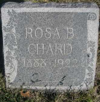 CHARD, ROSA B. - Dawes County, Nebraska | ROSA B. CHARD - Nebraska Gravestone Photos