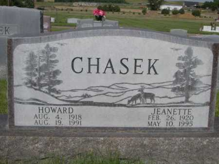 CHASEK, HOWARD - Dawes County, Nebraska | HOWARD CHASEK - Nebraska Gravestone Photos