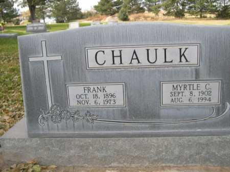 CHAULK, MYRTLE C. - Dawes County, Nebraska   MYRTLE C. CHAULK - Nebraska Gravestone Photos
