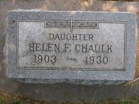 CHAULK, HELEN F. - Dawes County, Nebraska | HELEN F. CHAULK - Nebraska Gravestone Photos