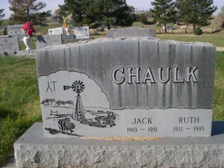 CHAULK, RUTH - Dawes County, Nebraska | RUTH CHAULK - Nebraska Gravestone Photos