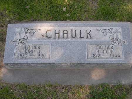 CHAULK, JOHN J. - Dawes County, Nebraska | JOHN J. CHAULK - Nebraska Gravestone Photos