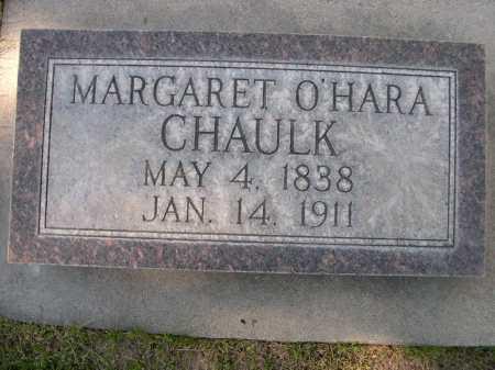 CHAULK, MARGARET O'HARA - Dawes County, Nebraska | MARGARET O'HARA CHAULK - Nebraska Gravestone Photos