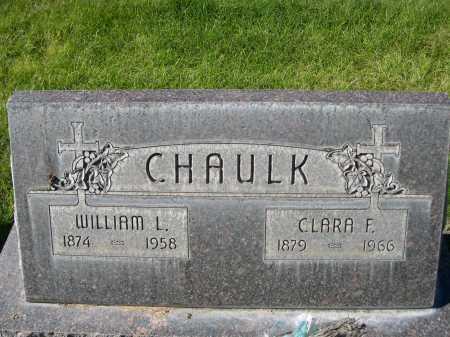 CHAULK, CLARA F. - Dawes County, Nebraska | CLARA F. CHAULK - Nebraska Gravestone Photos