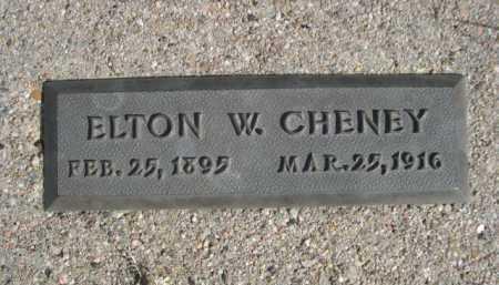 CHENEY, ELTON W. - Dawes County, Nebraska   ELTON W. CHENEY - Nebraska Gravestone Photos