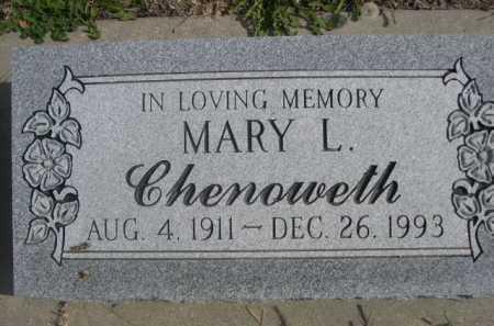 CHENOWETH, MARY L. - Dawes County, Nebraska | MARY L. CHENOWETH - Nebraska Gravestone Photos
