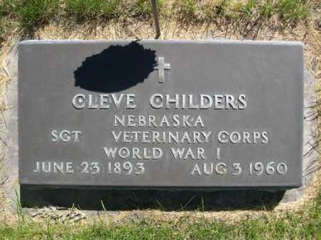 CHILDERS, CLEVE - Dawes County, Nebraska | CLEVE CHILDERS - Nebraska Gravestone Photos