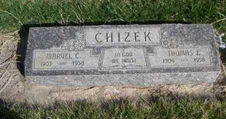 CHIZEK, THOMAS J - Dawes County, Nebraska | THOMAS J CHIZEK - Nebraska Gravestone Photos