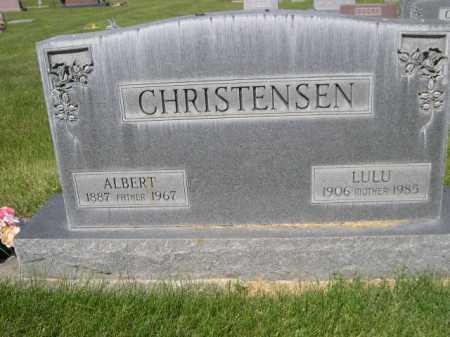 CHRISTENSEN, LULU - Dawes County, Nebraska | LULU CHRISTENSEN - Nebraska Gravestone Photos