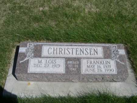 CHRISTENSEN, FRANKLIN - Dawes County, Nebraska | FRANKLIN CHRISTENSEN - Nebraska Gravestone Photos