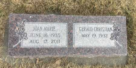 CHRISTIAN, JOAN MARIE - Dawes County, Nebraska | JOAN MARIE CHRISTIAN - Nebraska Gravestone Photos