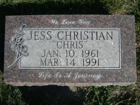 "CHRISTIAN, JESS ""CHRIS"" - Dawes County, Nebraska | JESS ""CHRIS"" CHRISTIAN - Nebraska Gravestone Photos"
