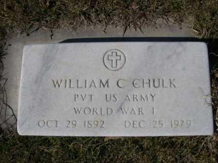 CHULK, WILLIAM C. - Dawes County, Nebraska   WILLIAM C. CHULK - Nebraska Gravestone Photos