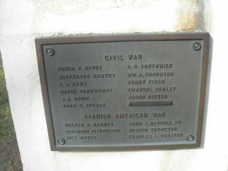 CIVIL WAR & SPANISH-AM. WAR VE, NAMES OF - Dawes County, Nebraska | NAMES OF CIVIL WAR & SPANISH-AM. WAR VE - Nebraska Gravestone Photos