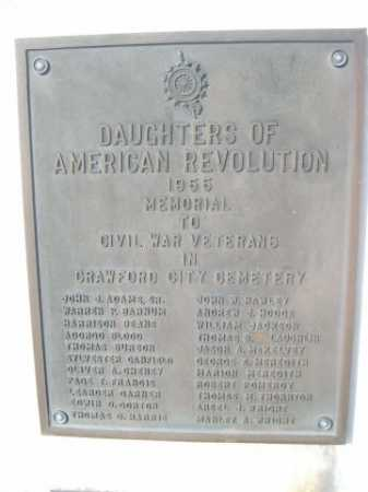 CIVIL WAR VETERANS, NAMES OF - Dawes County, Nebraska | NAMES OF CIVIL WAR VETERANS - Nebraska Gravestone Photos