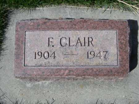 CLAIR, F. - Dawes County, Nebraska | F. CLAIR - Nebraska Gravestone Photos